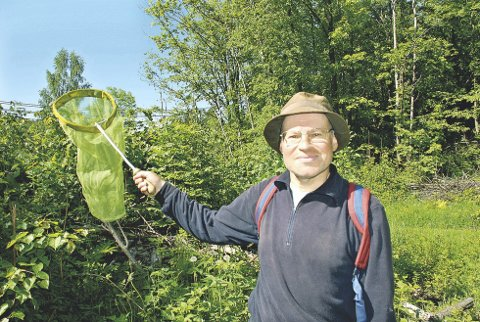 KLippeblåvingen: Roald Bengtson gjorde den siste observasjonen av den utrydningstruede sommerfuglen på Åstø i 2012. Nå er den kanskje borte herfra, men det kan det bi en endring på.  Illustrasjonsfoto/Arkiv
