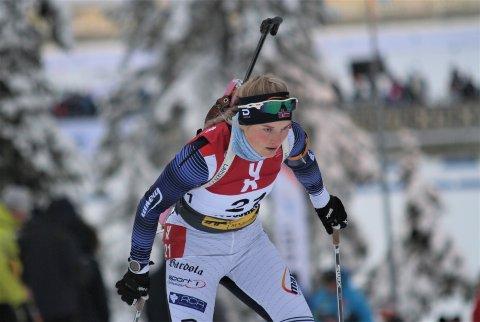 God start: Marit Øygard gikk en meget god normaldistanse i østerrikske Obertilliach søndag, og skjøt 18 treff av 20 mulige. Det holdt til en 11. plass.