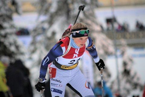 Ingen junior-VM: Skiskytter Marit Øygard (20) fikk en blodpropp i lysken, som satte henne ut resten av sesongen. Dermed glapp håpet om deltakelse i junior-VM i skiskyting.