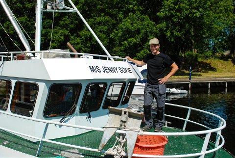 M/S JENNY SOFIE: Fra frokostbordet hjemme hadde han sjøutsikt, og kunne se på fiskebåter. Det inspirerte han.