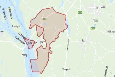 NESTEN 800: 775 husstander er berørt av et strømbrudd i Frogn kommune søndag formiddag.