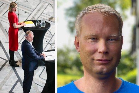 – FOR TIDLIG: Norsk Lektorlag ved fylkeslederen i Oslo, David Løvbræk, mener at det blir for tidlig å åpne ungdomsskoler og videregående på gult nivå i mai.