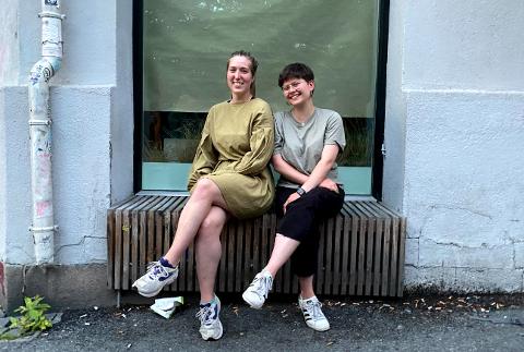 GATEHJØRNET: - Vi vil finne ut hvorfor folk henger på gata. På den bra måten, forteller Gina Karoline Hass Meaas Gjermundsen (25) og Rikke Storvik Sjøhelle (24). I sommer forsker de på nabolaget ditt.
