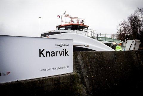 Avisa Nordhordland meiner Skyss bør kartlegge passasjergrunnlaget for snøggbåt til Nordhordland før ønsket frå passasjerane blir avfeia. Foto: Linn Merete Rognø