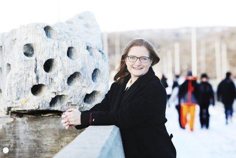 Optimist: Ordfører Ida Pinnerød er fornøyd med at 43 prosent sier ja til at Bodø skal søke om å bli Europeisk kulturhovedstad.Foto: Helge Grønmo