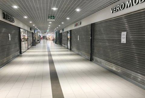 42 butikker på City Nord er nå stengt.