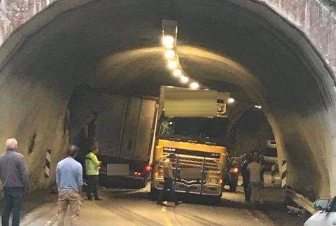 Utsatt strekning: Det kunne fort blitt en enda styggere ulykke i Gleflogtunnelen fredag kveld den 13. august i år. Nå ønsker flere en endring.