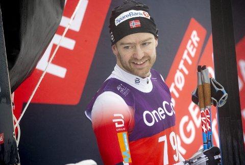 Sjur Røthe var meget fornøyd med pallplassen på søndagens 15 kilometer i klassisk stil.