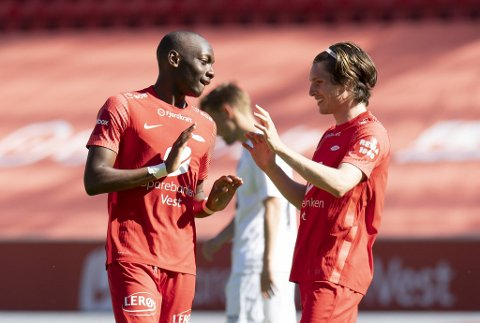 Moonga Simba scoret igjen for Brann. Svensken har begynt å finne seg til rette i Bergen.