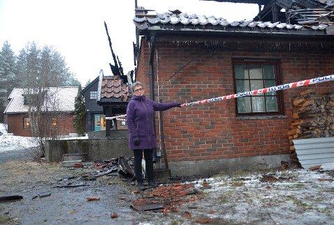 Brann: Dette var synet som møtte daglig leder Kristin Leite torsdag morgen.