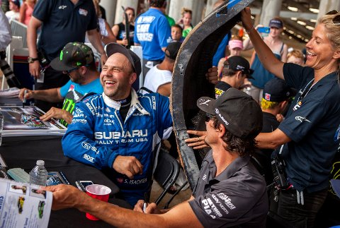 Sverre Isachsen fra Hokksund forlenger ikke kontrakten med Subarus team for å kjøre rallycross i USA.