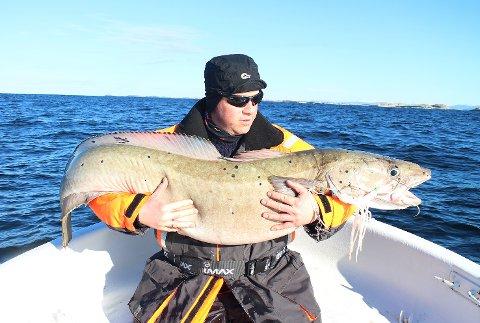 Espen Bjørndal dro opp denne Langen på 26,5 kilo ved Øygarden på Vestlandet denne uken.