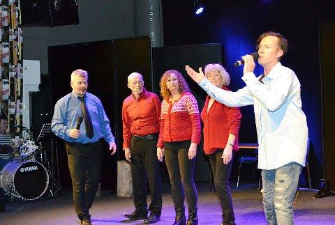 """Sangen """"Sånn er livet vi har"""" handlet om Øvre Eiker Høyre som gikk til valg på at Øvre Eiker skulle bestå som egen kommune, men siden har vinglet att og fram."""