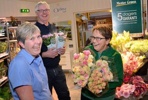 FORNØYDE: Eva Tobiasson (f.v.) Geir Garås og Kjersti Trøstheim var svært fornøyde med at butikk-kabalen i Nærsenteret ble løst til alles glede.
