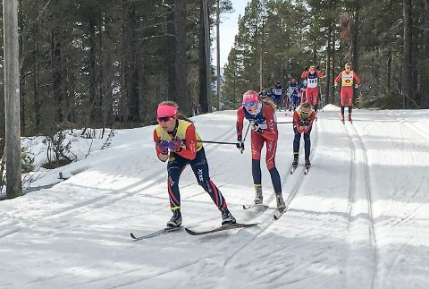 SUVEREN: Helene Marie Fossesholm kommer hjem fra Nordisk juniorlandskamp i Finland med tre gullmedaljer.