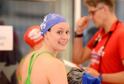 NY REKORD: Stine Lise Stenseth svømte på Bærum-laget som satte norsk rekord på 4 x 200 meter fri.