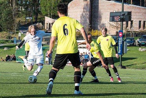 BANENS BESTE: Markus Olsen kom inn som innbytter og ble kåret til banens beste da Modum FK knuste Svelvik.