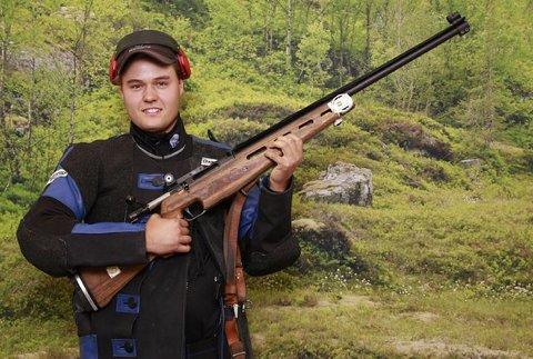 PÅ KONGELAGET: Anders Hunstad fra Sigdal skytterlag har sikret seg plass på kongelaget under Landsskytterstevnet.