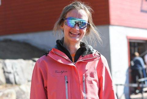 TILBAKE: Marit Gundersen Bottegård fra Vikersund fikk hjerneslag for ni måneder siden. Lørdag var hun tilbake i terrengløypa på Furumo.