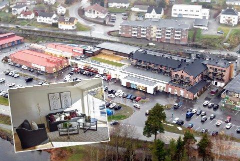 TAR TID: Salget av leiligheter i Strandpromenaden i Vikersund tar tid, men det plager ikke megler Kate Sandø.