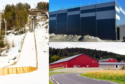 5,2 MILLIONER: K65-bakken i Vikersund hoppsenter, fotballhallen på Loesmoen 0 som her er under bygging – og ridehallen på Buskerud gård drar av gårde med 5,2 av nesten åtte spillemiddel-millioner.
