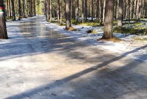 HÅLKE: Slik så det ut på Furumo da Inger-Margrethe Kleven-Bråthen gikk tur der forrige uke.