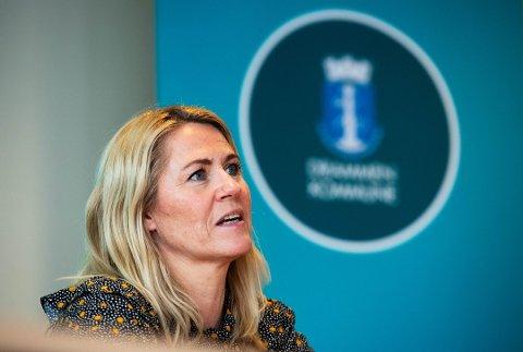 Ordfører Monica Myrvold Berg, her fra en tidligere pressekonferanse.