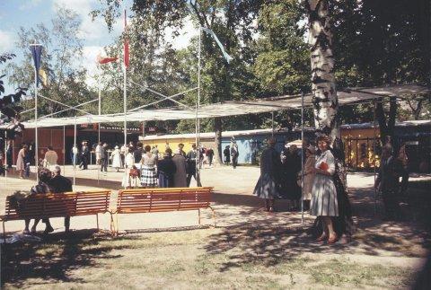 Byen 150 år: Parkens siste store utstilling var i 1961 da Drammen feiret seg selv som 150-åring. Foto: Byarkivet