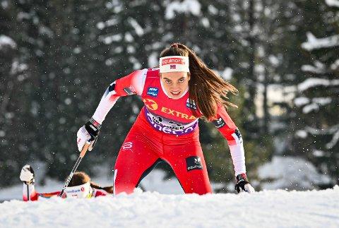 KANONDAG: Kristine Stavås Skistad gikk et sterkt løp på Konnerud onsdag. 21-åringen gikk inn til en 4.plass.