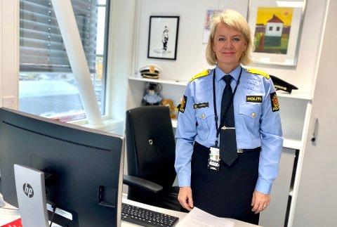 POLITIMESTER: Ida Melbo Øystese gir beskjed om at etterforskning av kriminalitet fortsatt vil bli prioritert.