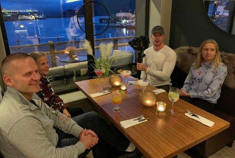 I AKSJON: Magnus Kristiansen (i hvitt) er tilbake hjemme i Honningsvåg med kamera i hendene. Finnmarksposten fikk en liten prat med han.