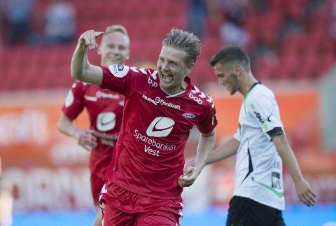 BRANN SA NEI: Erik Huseklepp kunne gått billeg frå FK Haugesund tilbake til Brann, men Brann sa nei. Søndag er Huseklepp tilbake i Florø, men denne gongen i Åsane-drakt.