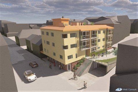 PLANEN: slik ser Ivest Consult og Svein Nødseth føre seg at de nye bygget i Strandgata 30 vil bli.