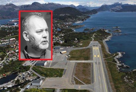 CATCH 22: – Bergensflyet blir kommersielt frå hausten av då trafikken er for god, men vi har eit for lite terminalbygg til at vi kan få makse trafikken og sikre eit godt nok tilbod, seier ein skuffa Kinn-ordførar, Ola Teigen