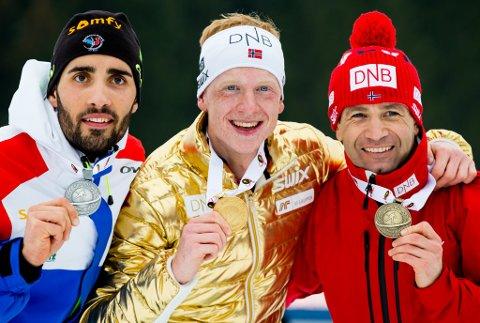 Johannes Thingnes Bø tok VM-gull på fellesstarten i mars føre Martin Fourcade og Ole Einar Bjørndalen. No kan han bli heidra.