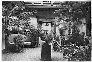 LEA HALL: Slik såg «vinterhagen» ut i residensen til Erik Grant Lea i 1917, då han budde i Bergen.