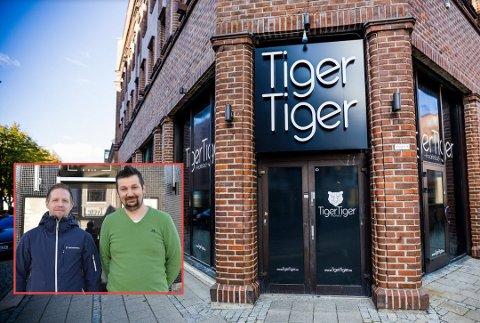 Conny Östling og Admir Sulejmanovic (innfelt) ønsker nye og gamle gjester velkomne når LIV Nightclub åpner i de gamle Tiger Tiger-lokalene lørdag kveld. Det blir åpgå nyåpning av Junior Bar.