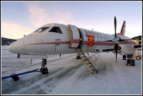 Et av postflyene som frakter post mellom Gardermoen og Evenes - og altså A-post som leveres over natten. Arkivfoto: Ragnar Bøifot