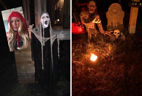 Christel Waade Aanes gjør mer ut av Halloween-feiringen enn de fleste - til glede for barn og voksne. På Ankenes har hun laget en egen Halloween-hage.