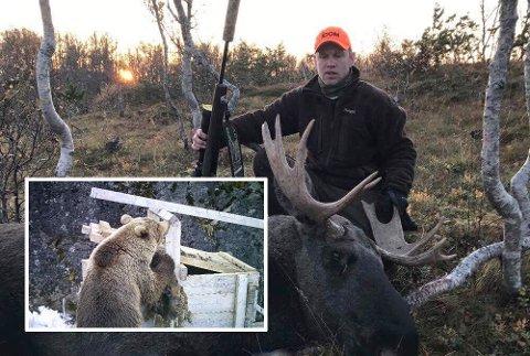 DRO FOR Å LETE: Mandag ettermiddag dro Tom Elvevoll for å lete etter bjørnen ved Revvatnet.
