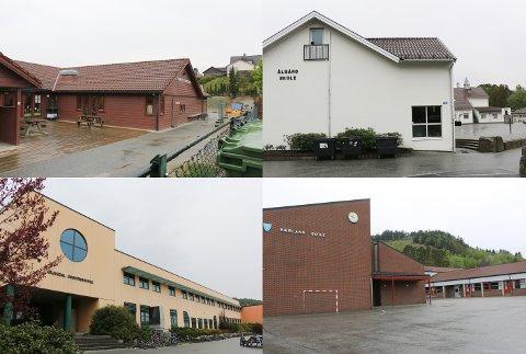 Bamsebo barnehage, Ålgård skole, Gjesdal ungdomsskole og Bærland skole er nokon av dei kommunale bygga som har behov for eit økonomisk løft.