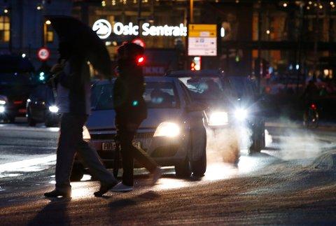 Dårlig luft: NILY varsler høyt niva veistøv og eksos i Oslo-lufta i dag.