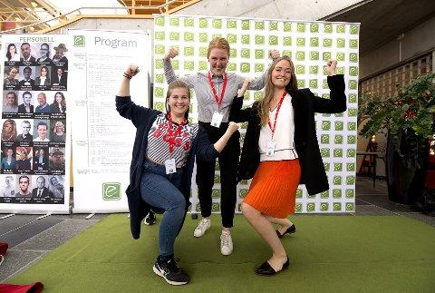 Har egne ideer: F.v. Fredrikke Slemdal, Inge van Alert og Nina Bakås er med på gründercamp i Lillehammer.Begge foto: Torbjørn Olsen