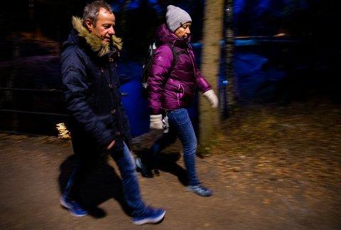 Merethe Kjellberg (50) og Roar Olsen (56) har gått minst 10.000 skritt hver dag i to og et halvt år. Til sammen 11,7 millioner skritt. – Det er hverdagsaktiviteten som teller, sier de.