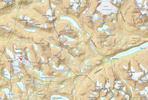 Mjølkedalsbreen ligger vest i Jotunheimen