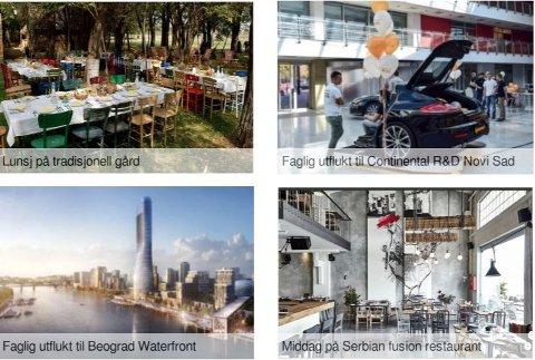 I 2018 dro 15 representanter fra regionrådet på studietur til Beograd. Bildet er fra programmet.