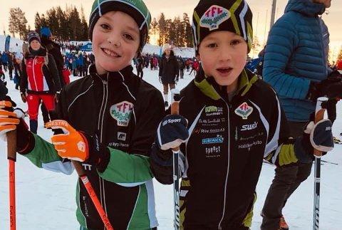 GROR GODT: Bastian Østli Langseth og Joel Bronebakk Johansson leverte fin innsats i en av de yngste klassene.