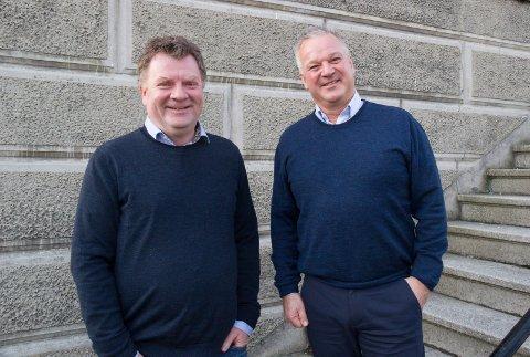 NY MANN:  - Geir Jakobsen fra Vea begynner som ansatt i YesMan, men kan bli aktuelt som partner etter hver, sier Petter Losnegård (til v.), daglig leder i YesMan.