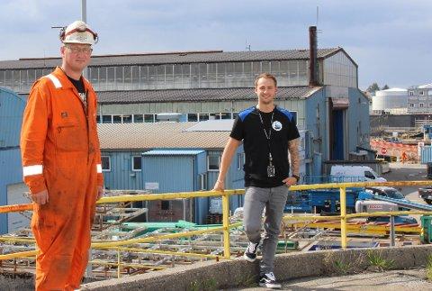 SVEISERE: Marius Leirdal (t. v.) og Steinar S. Rasmussen er opptatt av at oljekranen ikke stenges igjen: – Det partiet jeg stemmer på må ville ha fortsatt letevirksomhet på norsk sokkel, sier Rasmussen.
