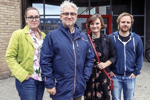 OPTIMISTER: Carola Karl Urvik, André Skjelstad, Franziska Wika og Mats Hansen er optimistisk når det gjelder muligheten for etablering av et nasjonalt våpenregister i Mosjøen. Bilder: Rune Pedersen